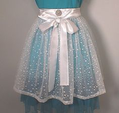 Snow Princess Hostess Apron Glittery by ImagineThatCustDesig, $21.99