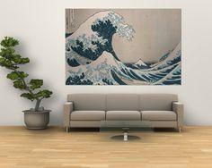 """Katsushika Hokusai - Velká vlna u pobřeží Kanagawy (ze """"36 pohledů na horu Fudži""""), (""""Fugaku Sandžúrokkei"""") Obrazy na AllPosters.cz."""