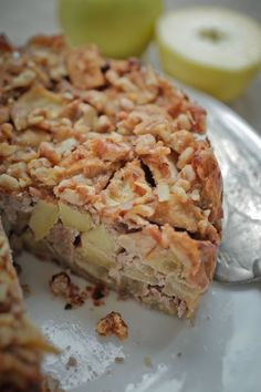 Looks like the Ikea apple cake, but maybe healthier??  Must pull out my Vita-Mix to make some fresh almond flour and try it!