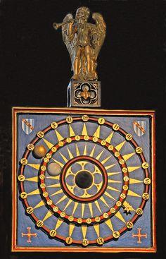 Church clock circa 1427. St.Marys, Ottery St. Mary, Devon.