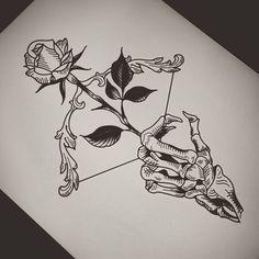 Tattoo Design Drawings, Pencil Art Drawings, Art Drawings Sketches, Tattoo Sketches, Skull Tattoo Design, Drawing Tattoos, Rose Drawings, Hipster Drawings, Drawing Designs