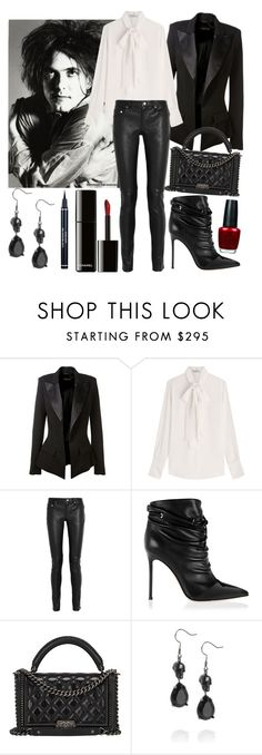 """07.12.2015"" by chrissy6 ❤ liked on Polyvore featuring Alexandre Vauthier, Valentino, Yves Saint Laurent, Gianvito Rossi, Chanel, OPI, Alexander McQueen and Christian Dior"