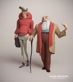 Father and Son Sculpt, Dann Beeson on ArtStation at https://www.artstation.com/artwork/08go5