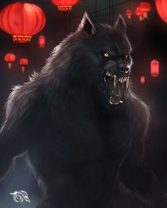 Commission_Dark Alley by FleshCreature on DeviantArt Werewolves of London- Shrouded Werewolf by kmjoen Dark Fantasy Art, Dark Art, Wolf Hybrid, Werewolf Art, Werewolf Games, Arte Obscura, Vampires And Werewolves, Horror Art, Furry Art