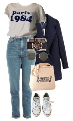 """""""Untitled #187"""" by carysdicker ❤ liked on Polyvore featuring Topshop, Ray-Ban and Converse"""
