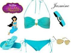 Outfit Jasmine para la playa... #Disney #moda #1001consejos