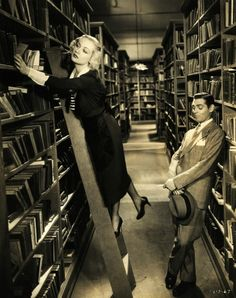 "Carole Lombard and Clark Gable in No Man of Her Own (1932)  ""Clark Gable plays a card cheat who has to go on the lam to avoid a pesky cop. He meets a lonely, but slightly wild, librarian, Carole Lombard, while he is hiding out."""