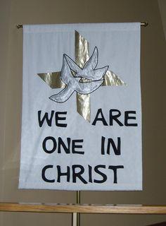 Wedding banner. First Lutheran Church, Lake City, MN