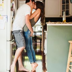 Couple's At-Home Engagement Pics Will Make You Feel All Warm And Fuzzy. The hand on the butt photo is so cute! Lifestyle Photography, Couple Photography, Engagement Photography, Engagement Session, Wedding Photography, Engagement Photo Inspiration, Engagement Pictures, Love Couple, Couple Shoot