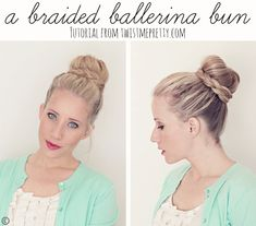 A Braided Ballerina Bun Hair Tutorial