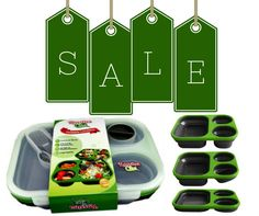 HOT SALE!!! Just think what you can prepare in these practical and spacious lunch boxes. You're in for a treat if you are health-conscious. You name it - any type of fruit, vegetable or meat can be comfortably cut into bite-sized chunks and inserted into the extendable pockets. Ideal, too, for the meat and two veg connoisseur! #lunchbox #foodporn #save #discounts #women #men #kids #work #school #gym Shop now…