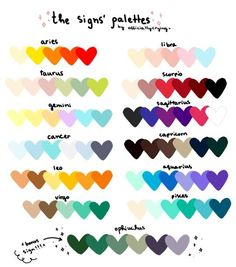 If you're looking for someone that's totally exudes sexiness, Date These 3 Zodiac Signs Palette Art, Colour Pallette, Colour Schemes, Color Combos, Colour Match, Zodiac Signs Colors, Zodiac Star Signs, Zodiac Signs Horoscope, Zodiac Art