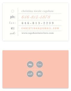 Rose Lindo // The Typography Business Card Challenge