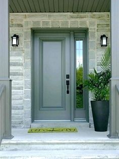 Front Door Pictures With Sidelights.How To Choose A Front Door With Sidelights Interior . Traditional Front Door With Simpson Craftsman Three Panel . Home and Family Front Door Entrance, Exterior Front Doors, Front Door Colors, Glass Front Door, Front Door Decor, Entry Doors, Entrance Ideas, Door Ideas, Exterior Paint