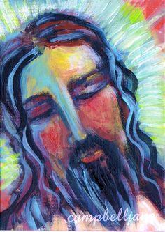 Christ Jesus Art Print Portrait on Etsy, $15.00