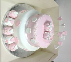 Beatiful Christening cake for a princess.