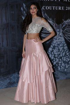 36 indian lehenga choli designs for pre wedding functions 15 Choli Designs, Lehenga Designs, Blouse Designs, Indian Designer Outfits, Indian Outfits, Designer Dresses, Indian Wedding Gowns, Indian Gowns Dresses, Wedding Dress
