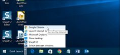 How to Bring Back the Quick Launch Bar in Windows 7, 8, or 10