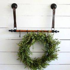 Faux Leather Strap Wall Hook Rack | Antique Farmhouse