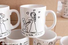 tazas para invitados boda - Buscar con Google