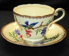 Aynsley ART Deco TEA CUP AND Saucer Bird Fruit | eBay