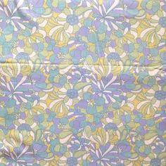 Image of Grand Drap Fleuri Tissu Vintage (3)