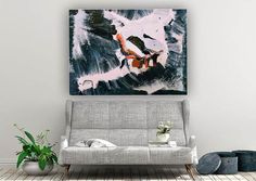 Vibrant abstract painting abstract art colorful painting image 4 Colorful Artwork, Colorful Paintings, Oversized Wall Art, Canvas Art, Large Canvas, Bathroom Wall Art, Extra Large Wall Art, Office Wall Art, Modern Wall Decor