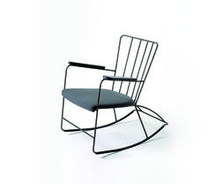 Rocker chair (1948)Race gave the traditional Victorian rocking chair a new, modern life with this minimal, metal model.