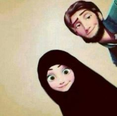 If disney character were Muslim Cute Muslim Couples, Muslim Girls, Cute Couples, Hijabs, Mode Turban, Islam Marriage, Islamic Cartoon, Anime Muslim, Hijab Cartoon