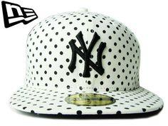 """【ニューエラ】【NEW ERA】59FIFTY DOT(水玉)シリーズ """"NEW YORK YANKEES"""" NYロゴ ホワイト 【CAP】【newera】【帽子】【ニューヨーク・ヤンキース】【FITTED】【ドット】【ブラック】【white】【black】【MLB】【NY】【キャップ】【あす楽】【楽天市場】"""