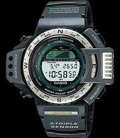 Retro Watches, Vintage Watches, Watches For Men, Big Watches, Casio Protrek, Radio Controlled Watches, Casio G Shock, Seiko, Casio Watch