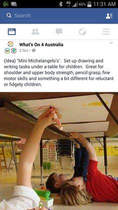 3yr old Activity idea for fidgity kids