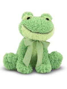 Melissa & Doug Princess Soft Toys Meadow Medley Froggy Stuffed Animal With Ribbit Sound Effect ❤ Melissa & Doug