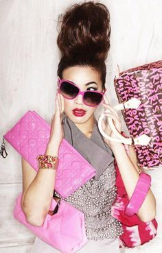 Pink Fashion @}-,-;--