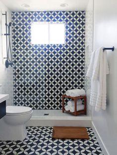 Image result for patterned tiled bathroom showers