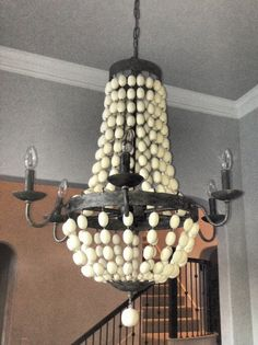 whimsy girl: Pretty Things {Wood Bead Chandelier}