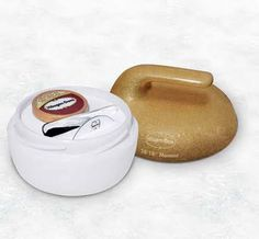 This is pretty much the coolest thing ever made. It's a curling stone that holds your ice cream.