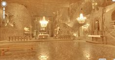Google has added a virtual view of the 13th century Wieliczka Salt Mine in Poland, including its glorious cathedral carved entirely out of rock salt. Read this article by Michelle Starr on CNET.