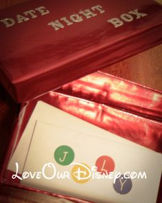 Love Our Disney: Craft Time- Date Night Gift Box
