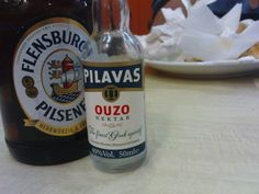 Flensburger + Pilavas Ouzo. Flensburg. #beer #bier