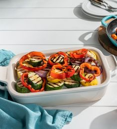 Two in one: Our Rectangular Dish with Platter Lid pairs a traditional casserole with a versatile lid that doubles as a serving tray.