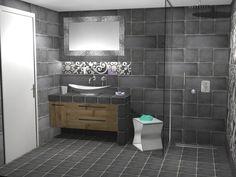 Κτιστός πάγκος με συνολικό μήκος 140 cm και πλάτος 40 cm. Κάτω από τον πάγκο τοποθετήθηκε ντουλάπι ειδικής κατασκευής από Μασίφ ξύλο, το οποίο αποτελείται από μία ανοιγόμενη πόρτα στην αριστερή πλευρά και 2 συρόμενα βαγονέτα με μηχανισμό Soft Close της Bloom. Toilet, Bathroom, Washroom, Flush Toilet, Full Bath, Toilets, Bath, Bathrooms, Toilet Room