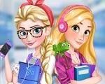 Em Elsa e Rapunzel Fashion School, Elsa e Rapunzel estão estudando no mesmo colégio e hoje elas vão se arrumar juntas para ver quem fica mais bonita. Será que você pode ajudar estas lindas princesas. Divirta-se com Elsa e Rapunzel!