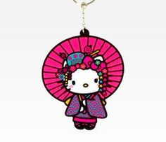 Hello Kitty Key Ring: Umbrella Nugeisha