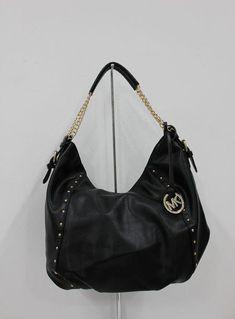 26b4167cfedf MICHAEL Michael Kors Shoulder Bag Medium Black Leather #WomensShoulderbags  80s Womens Fashion, Mod Fashion