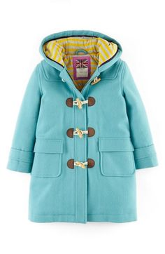Mini Boden Funky Duffle Toggle Coat (Toddler Girls, Little Girls & Big Girls) | Nordstrom