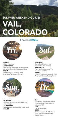 How to Do a Weekend in Vail, CO Weekend Guide to Vail, CO in the off-season. Vail Colorado, Colorado Hiking, Colorado Vacations, Colorado River, Colorado Mountains, Colorado Springs, Oh The Places You'll Go, Places To Travel, Travel Destinations