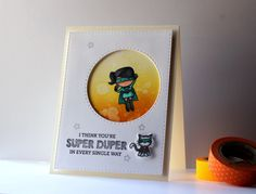 Mama Elephant Tiny Superheros Card