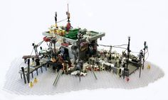 LEGO Ramshackle building with so many buildings it is hard to stop looking.