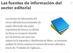 Las fuentes de información del sector editorial  Tags. IC Editorial, Marketing Editorial